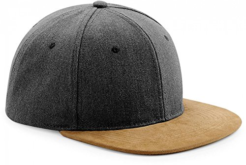 Suede Peak Jeanslook Snapback Hip Hop Rap Rapper Cap Basecap Baseballcap Mütze Hut Herren + Damen (Suede Cap Canvas)