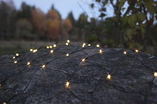 Best Season Dura String-Netz, circa 80 x 135 cm, 80 LED, Kabel, Verlängerte Batterielebensdauer Timer, Batterie, Outdoor, Vierfarb-Karton, warmweiß 727-52