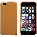 iPhone 6 / 6S Funda, FUTLEX Trasera Funda de auténtico cuero - Marrón claro - Ultra fino - Diseño y corte preciso - Hecho a mano