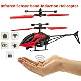 Hand Induction Control Flying Helicopter Infrared Sensor Aircraft (Without Remote) Kids Flying Toy Gifts USB Charger Flying Mini Sensor Infrared Induction Heli Plane With Flashing Light Toys For Kids