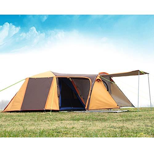 ZHJLOP Zelt Desert & Fox 2-3 Personen Campingzelt, Aluminiumstangen Outdoor Reise Doppelschicht Wasserdicht Winddicht Leichte Backpacking Zelt