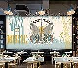 Papier Peint Peintures Murales Rock Guitare Jazz Restaurant Musique Fête Bar Décoration Murale-300 * 210 Cm