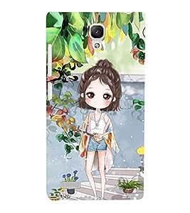 PrintVisa Designer Back Case Cover for Xiaomi Redmi Note :: Xiaomi Redmi Note 4G :: Xiaomi Redmi Note Prime (Angel girl design :: Baby doll design :: Honey girl design :: Cute girl design :: Baby girl design )