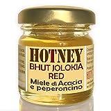 MIELE e BHUT JOLOKIA Piccante INTENSO Acacia e Peperoncino 40g Hotney