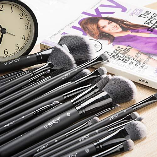 Uspicy Make up Pinsel 32-tlgs Schmink Pinselset etui Schmink Kosmetik Lidschatten Gesichtspinsel Augenpinsel