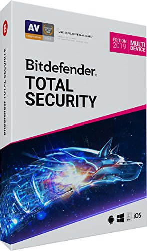 Bitdefender Total Security 2019 | 10 Appareils | 2 Ans | PC/MAC/Android/iOS