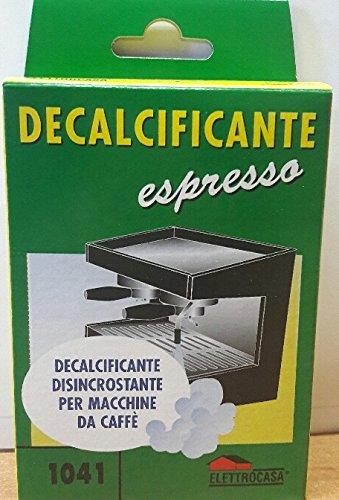Decalcificante disincrostante ecologico per macchine da caffe'. contiene acido citrico. nella confezione 3 bustine monodose. prodotto non nocivo.