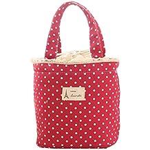 Ularma Moda Aislamiento térmico Lonchera Cooler Bag Tote bolsa de almuerzo bento contenedor (rojo)