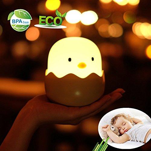 t, Morbuy Silikon Küken Eierschale USB Nachladbare für Baby Kinder Erwachsene Schlafzimmer Wohnzimmer Camping Geschenk (Warmweiß) (Halloween Garage Ideen)