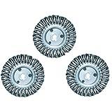 Proteco-Werkzeug® Set 3 St Rundbürste Scheibenbürste gezopft 115 mm Stahldraht 0,50 mm Gewinde M14 x 2,0 für Winkelschleifer