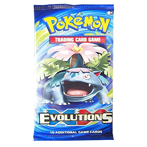 """Image of Pokemon XY12 """"Evolutions"""" Booster Pack: 10 Additional Cards for Pokemon Trading Card Game (Random, English Language)"""