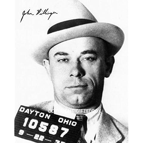 Edizione limitata John Dillinger firmato foto + Cert Edizione Limitata, Con Autografo stampato