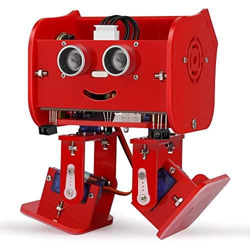 ELEGOO Proyecto Arduino, Penguin Bot Arduino Kit de Robot Biped con Tutorial de Ensamblaje, Kit Stem para Aficionados, Juguetes Stem para Niños y Adultos (Rojo)