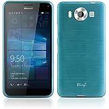 Microsoft Lumia 950 Funda, Protective Rayas Funda Silicona Gel TPU Para Microsoft Lumia 950 Carcasa Cover Case - Azul