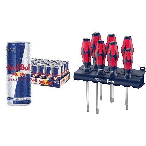 red-bull-energy-drink-24er-pack-wera-red-bull-racing-schraubendrehersatz