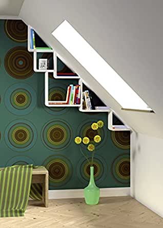 decosa wandregal till weiss 3 teilig 30 x 30 cm 40 x 40 cm 50 x 50 cm tiefe 15 cm. Black Bedroom Furniture Sets. Home Design Ideas