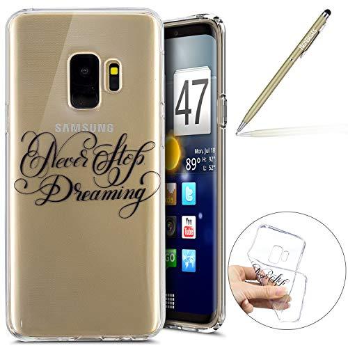 Herbests Kompatibel mit Handy Tasche Galaxy S9 Silikon Hülle Durchsichtige Schutzhülle Crystal Clear Transparent Ultra Dünn Handyhülle Silikonhülle Kristall Klar TPU Bumper,Traum