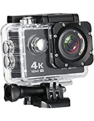 MixMart 4K 16M Action Camera Sports Camera with 2'' LCD Screen 170 Degree HD Wide-Angel Fish-Eye Lens, Built-in WiFi for Android and iOS