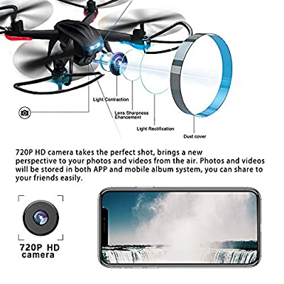 COL PETTI RC Drone 2.4GHz RC Quadcopter Altitude Hold FPV WIFI with 720P HD Camera Drone Headless Mode Six-axle Gyroscope,Fun Gift for Kids