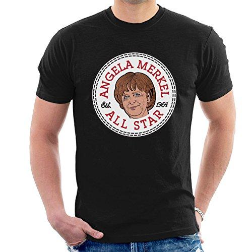 Angela Merkel All Star Converse Logo Men's T-Shirt Black