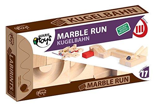 VARIS toys Holz-Kugelbahn Extra Set III 11 Teile Holzbausteine aus Birkenholz FSC®