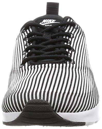 Nike W Air Max Thea Kjcrd, Chaussures de Sport Femme Noir (Noir / Blanc-Metallic Silver)