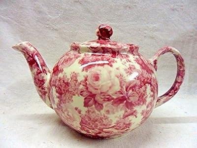 Théière 2tasses en rose Laura Design par Heron Cross Pottery.