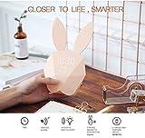 Conejo Pantalla digital Reloj despertador LED Luz nocturna Control de voz 12H / 24H Tiempo Temperatura/Temperatura Fahrenheit Regalos para niños