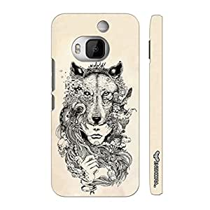 Htc One M9 Plus Exotic Wolf Head designer mobile hard shell case by Enthopia