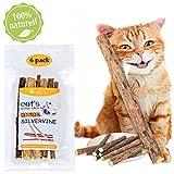 Katzenminze Sticks, Katzenspielzeug, 6x Katze Kaustäbchen Sticks Zahnpflege, 100% Natur Unterstützen die Natürliche Zahnpflege und Hilft Bei Mundgeruch Sowie Zahnstein - Temperament fashion