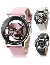 Reloj Pulsera de Diseño de Calavera ( Color : Rosa , Talla : Una Talla )