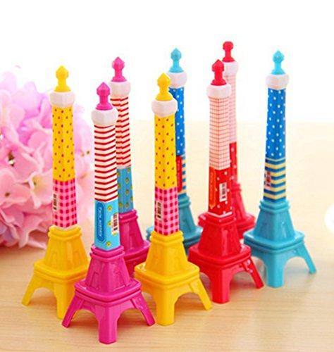 Twistables Marker (kitmax (TM) Pack Of 12PCS Cute Cool Neuheit Frankreich Paris Eiffelturm Form Personalisierte Werbe Kugelschreiber Büro Schulbedarf Studenten Kinder Geschenk)