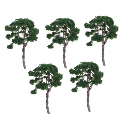 5pcs-verde-scuro-paesaggio-modello-paesaggio-alberi-1100
