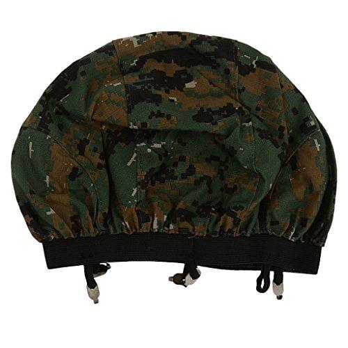 Taktisch Militärisch Military Helm Camouflage Kopftuch Tuch Armee Army Militär Soldaten Kostüm - Digital Woodland Camo (Tarnung Woodland Digital)