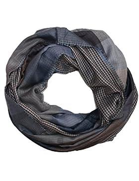 Sciarpa ad anello, da uomo, tema a righe e quadretti, stile inglese