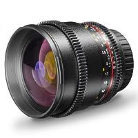Walimex Pro 19449 - Objetivo de foto y vídeo para montura Canon EF (85m...