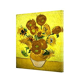 Flowers Oil Painting by Van Gogh RE Print ON Canvas Wall Art Home Decoration 12''x 8''inch -38mm Depth