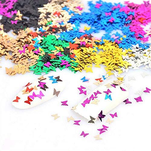 nagel glitzer Schmetterling Glitzer Für Gesicht Holografisch nagel nail art körper glitzer Laser Farbe Flash Geeignet für alle Arten von Maskerade (10G Butterfly) -