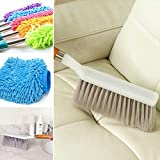 #9: Ketsaal Cleaning Brush, Carpet Brush, Curtain Brush, Ketsaal Cleaning Brush With EXTENDABLE Telescoping Wall Hanging Handle & Ketsaal Microfiber Dusting Cleaning Glove for Home, Office, Kitchen & Hotel (COMBO pack of 3)