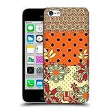 Head Case Designs Orange Gelb Blumen Und Punkte Ruckseite Hülle für Apple iPhone 5c