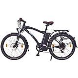 NCM-Essen26-Zoll-Elektrofahrrad-HerrenDamen-Unisex-PedelecE-BikeCity-Rad-36V-250W-13Ah-Lithium-Ionen-Akku-mit-468Wh-matt-schwarz
