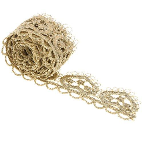 chiwanji 1 Yard Quaste Lace Trim Liebe Herz Nähen Vorhänge/Kleidung DIY Zubehör - Gold -