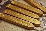 """Manuscript Siegelwachs Siegel xichen ®-Sticks Ersatzdochte für Porto """" 5PCS Vintage gold"""