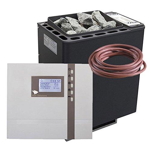WellSolutions Saunaofen Set Bi-O Thermat 9 kW by EOS Saunasteuerung Econ H4 Bio Combi Feuchte Sauna