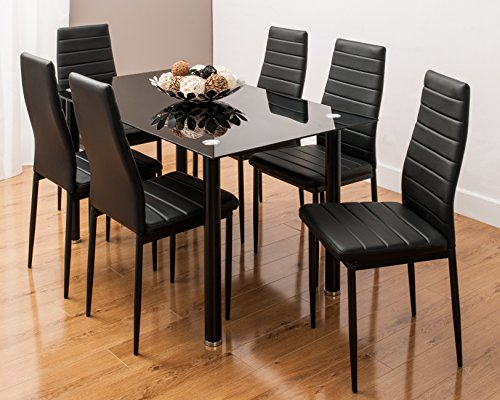 distinctive designs furniture. GLASS DINING TABLE SET AND 6 FAUX LEATHER CHAIRS IN 3 DISTINCTIVE DESIGNS BY SMARTDESIGNFURNISHINGS ALL BLACK Distinctive Designs Furniture C