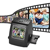 Docooler Alta Risoluzione Scanner per Diapositive a Pellicola 14MP / 22MP Converti 8mm - 135mm Pellicola Diapositiva Monocromatica a Colori Negativa in Immagine Digitale con Display LCD da 2,4 Pollici