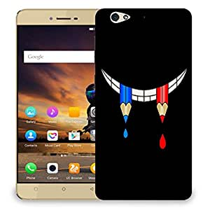 Snoogg Pencil Smile Designer Protective Back Case Cover For GIONEE S6