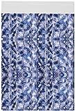 Flauschvorhang individuell kürzbar Auswahl: Meliert blau - weiß - Silber 90 x 200 cm
