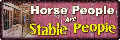 fest geprägt Blechschilder, Horse People (Party City Western)