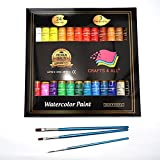 Watercolour Paint Set by Crafts 4 All 24 Premium Quality Art Watercolors Painting Kit for Artists, Students & Beginners - Perfect for Landscape and Portrait Paintings on Canvas